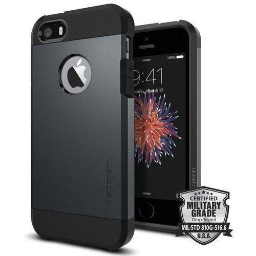 tough armor grafitowy | pancerna obudowa dedykowana dla modelu apple iphone 5 / 5s / se - grafitowy marki Sgp - spigen