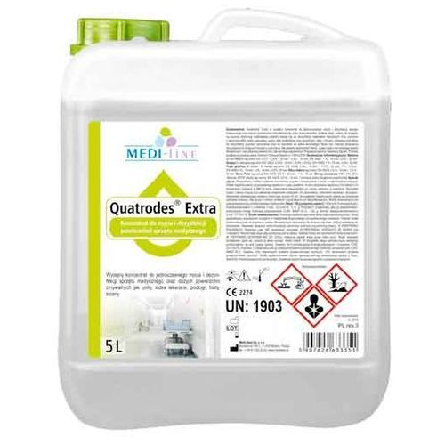 Quatrodes Extra środek do dezynfekcji sprzętu medycznego 5 litrów (5907626633351)