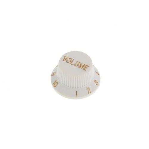 kw-240 gałka potencjometru volume typu strat, biała marki Boston