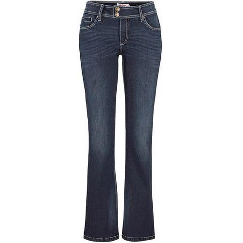 Bonprix Dżinsy BOOTCUT  ciemnoniebieski, niebieska, max rozmiar: 48