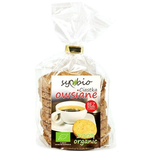 Ciastka owsiane bez cukru bio 190g - Symbio