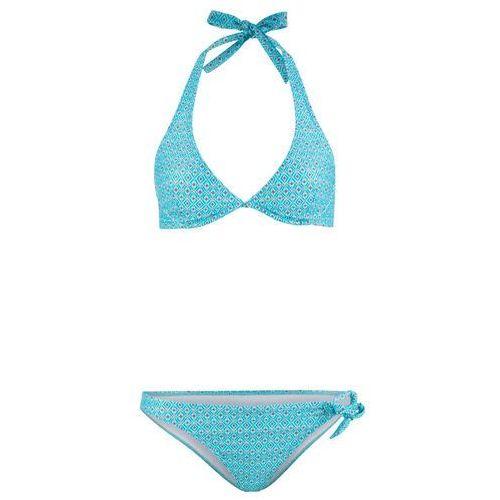 Bikini na fiszbinach, zrównoważony produkt (2 części) bonprix zielony z nadrukiem, kolor wielokolorowy