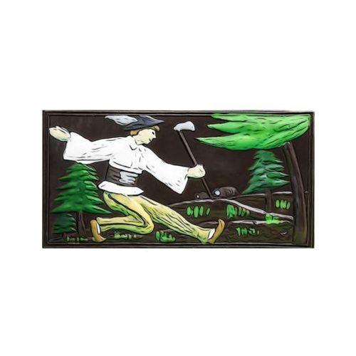"""Góralskie praliny Czekolada ręcznie malowana """"juhas z ciupagą na hali"""" - deserowa"""