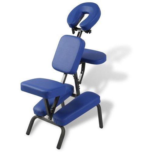 Vidaxl niebieski, składany i przenośny fotel masujący (8718475899822)