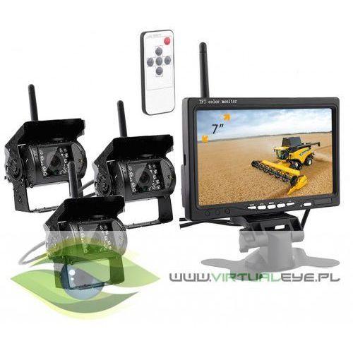 Virtualeye Bezprzewodowy monitor + 3x kamera cofania 12v/24v
