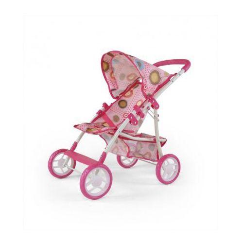 Wózek dla lalek NATALIA zabawka różowo-brązowy - oferta [0592407ca775d582]