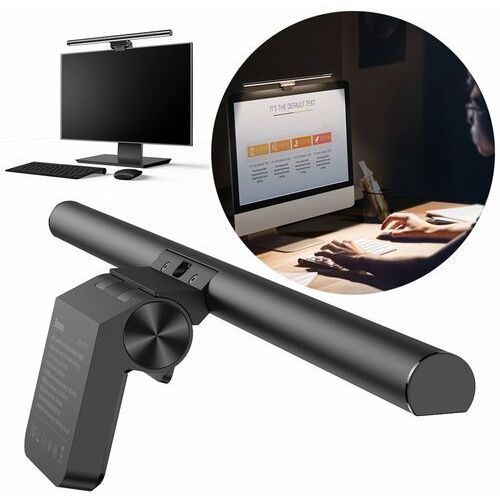 Baseus i-work lampka led na monitor do pulpitu oświetlenie ekranu czarny (dgiwk-b01) - czarny (6953156225701)