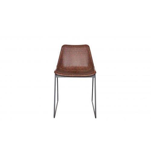 Be Pure Krzesło STAINLY skóra przeplatana brązowe 800487-B (8714713055241)