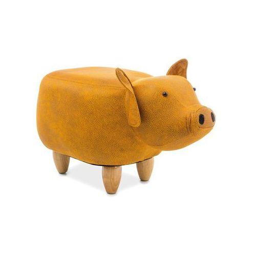 Pufa zwierzak - - świnka sabinka - żółty marki Signal