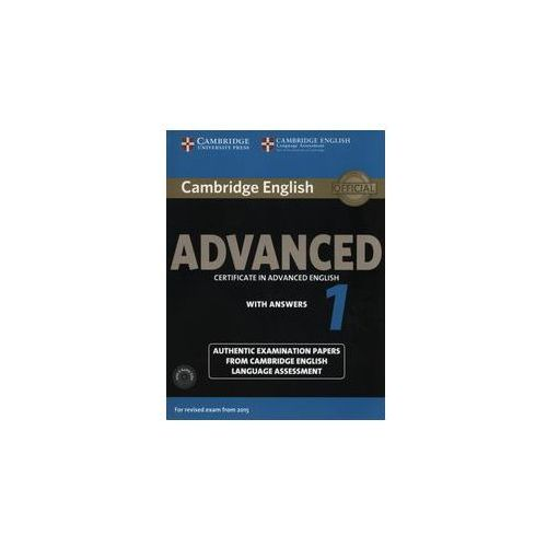 Cambridge English Advanced 1. Podręcznik z Kluczem + CD, oprawa miękka