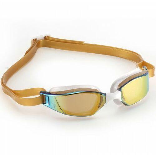 Mp michael phelps okulary xceed titanium mirror gold-white, kolor: gold, typ soczewki: mirror