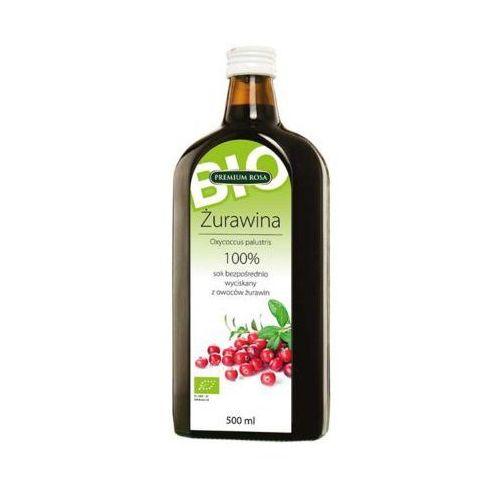 500ml sok 100% żurawina bezpośrednio wyciskany bio marki Premium rosa