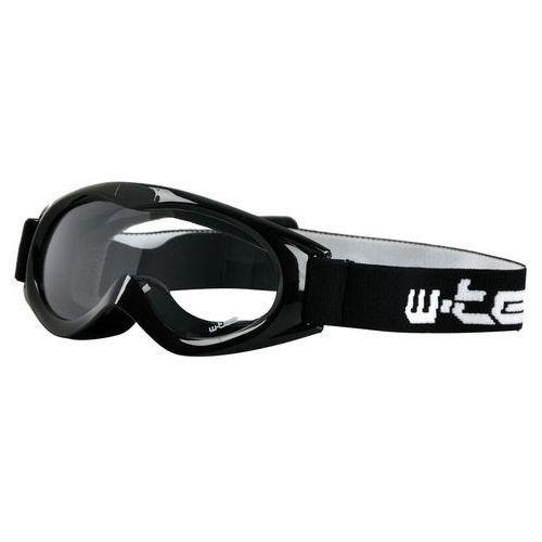 W-tec Dziecięce motocyklowe okulary spooner, biały (8595153642983)