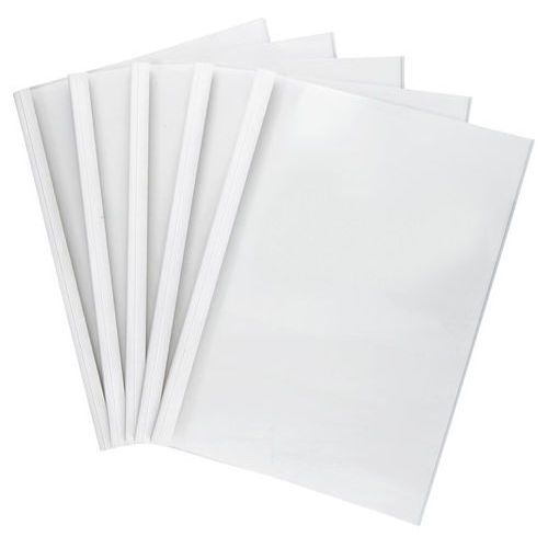 Okładki do termobindowania, A4, 6mm, do 60 kartek (80g/m2), białe, 5 sztuk