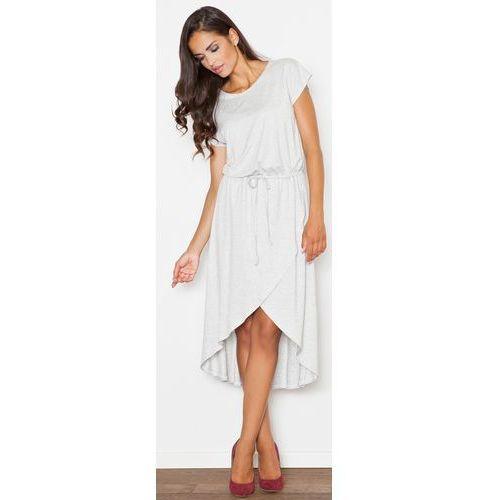 Sukienka M394 Jasny Szary L (5901299581285)