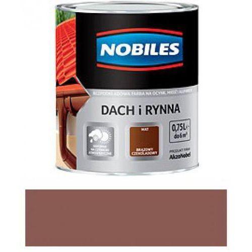 NOBILES DACH I RYNNA-Czerwony Tlenkowy -0,75L (rynna)