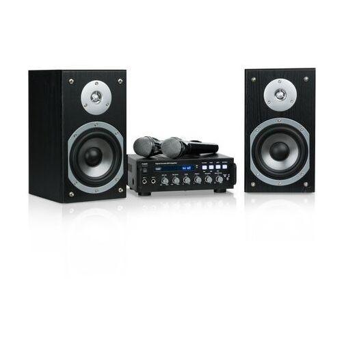 Auna karaoke star 3 zestaw do karaoke 2 x 75 w bt port usb line-in 2 x mikrofon (4060656101151)