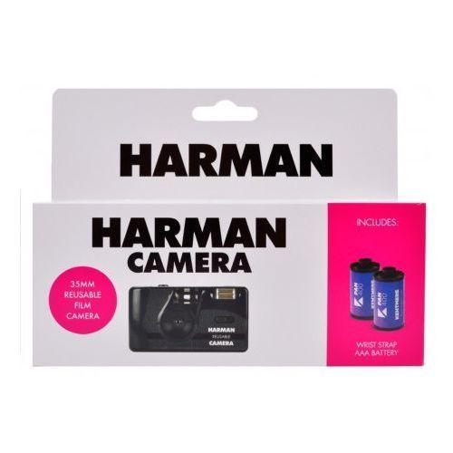 Lomography Harman camera aparat z lampą wielokrotnego użytku + 2 filmy kentmere pan 400/36