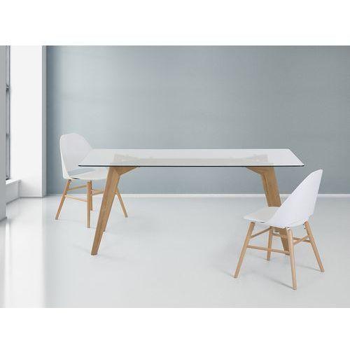 Stół - szklany - 180 cm - kuchenny - do jadalni - HUDSON