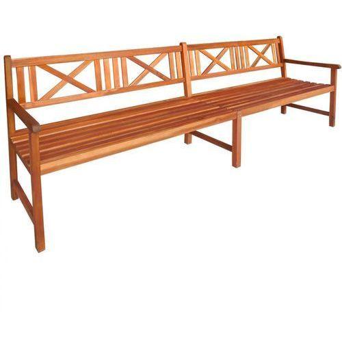 Ławka ogrodowa z drewna akacjowego 240 x 56 x 90 cm, brązowa marki Vidaxl