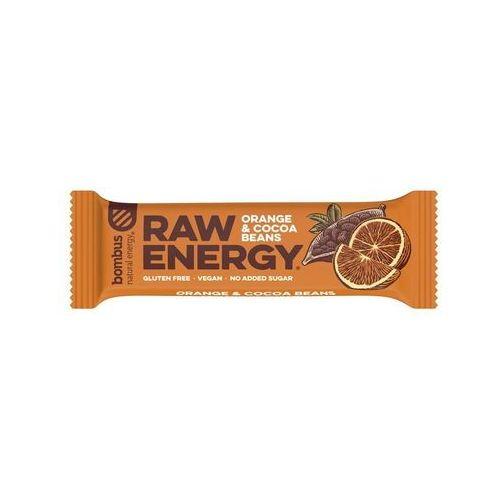 Baton RAW ENERGY pomarańcza ziarna kakao bezglutenowy 50 g Bombus (8594068262125)