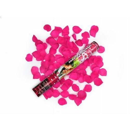 Tuba strzelająca, różowe sztuczne płatki róż, 40cm, 1 szt. (5901157437938)