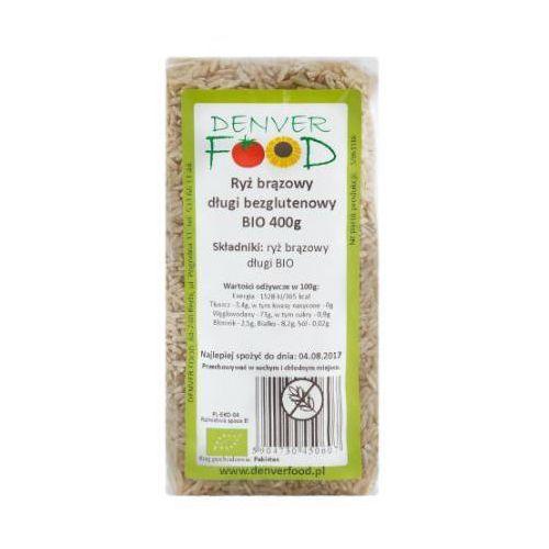 Denver food Ryż brązowy długi bezglutenowy bio 400g -
