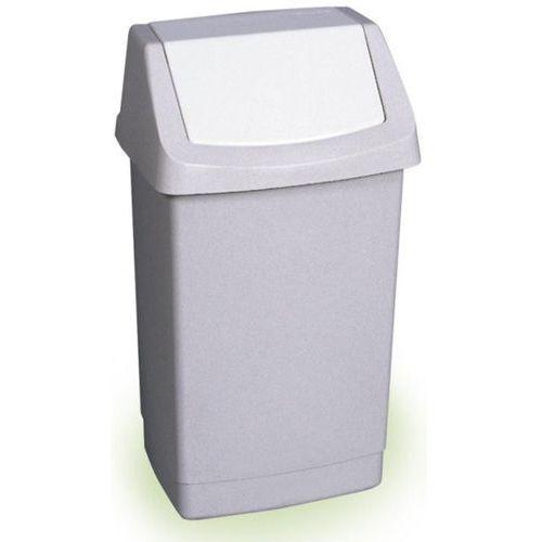 kosz na śmieci uchylny, 50l, szary wyprodukowany przez Curver