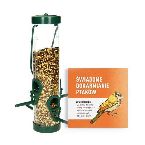 Odstraszanie Karmnik dla ptaków na zimę transparentny. tuba na ziarno dla ptaków.