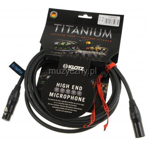 Klotz ti m0300 titanium star quad przewód mikrofonowy xlr-f xlr-m 3m