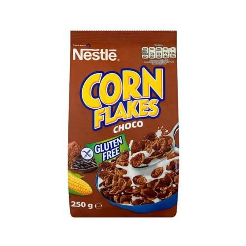 Nestle 250g corn flakes choco płatki śniadaniowe o smaku czekoladowym