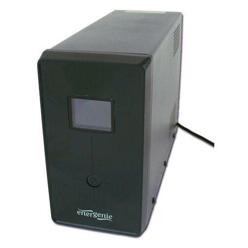 UPS Gembird ENERGENIE Line-Interactive,1200VA,3xIEC,2xSchuko 230V,USB,RJ11,LCD (EG-UPS-033) Darmowy odbiór w 21 miastach! (8716309080873)