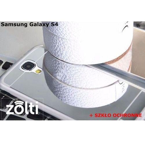 Zestaw | Slim Mirror Case Srebrny + Szkło ochronne Perfect Glass | Etui dla Samsung Galaxy S4, kolor szary