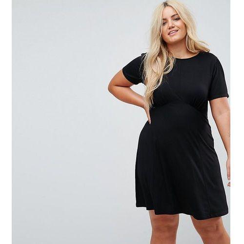 ASOS DESIGN Curve ultimate mini tea dress - Black