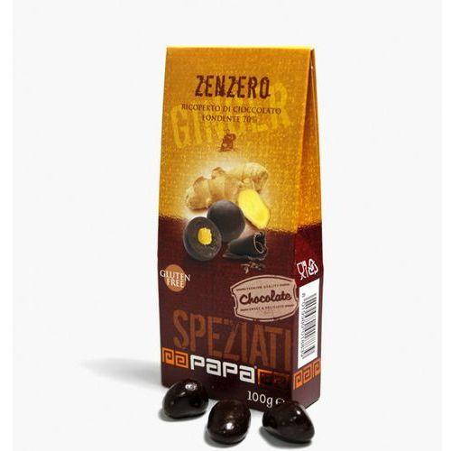 Papa speziati imbir w gorzkiej czekoladzie 70% 100 g