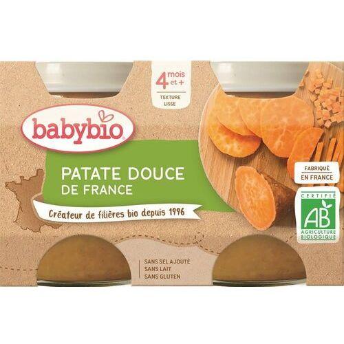 Babybio Przecier z batatów od 4 miesiąca bezglutenowe bio 2x130 g