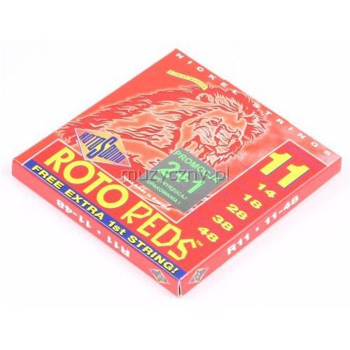 Rotosound r 11 roto reds struny do gitary elektrycznej 11-48