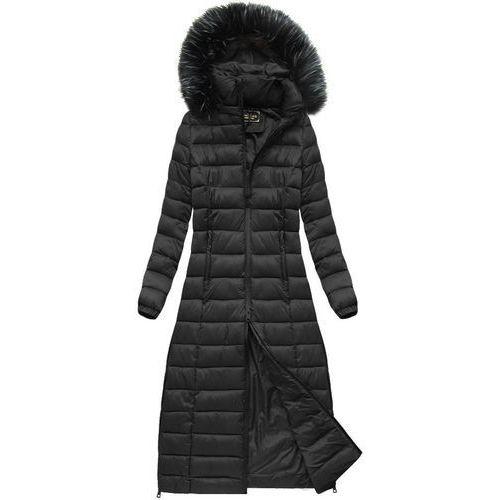 Długi pikowany płaszcz czarny (7758) - czarny, Libland