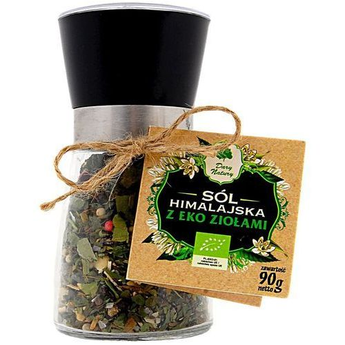 Dary natury - przyprawy i zioła bio Sól himalajska w młynku z ziołami bio 90 g - dary natury