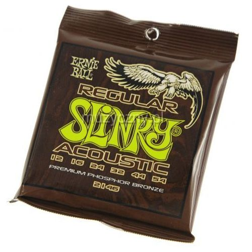 2146 regular slinky struny do gitary akustycznej 12-54 marki Ernie ball