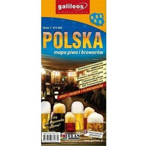 Mapa piwa i browarów - Polska 1:875 000 - Praca zbiorowa, oprawa broszurowa