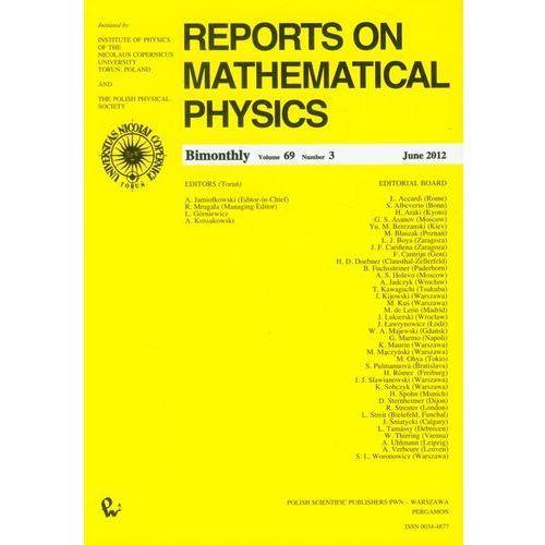Reports on Mathematical Physics 52/3/2003 wersja krajowa, Wydawnictwo Naukowe Pwn