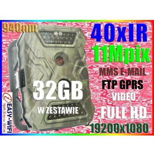 KAMERA LEŚNA NAGRYWA VIDEO NA SD FHD MMS FTP +32GB (kamera monitoringowa)