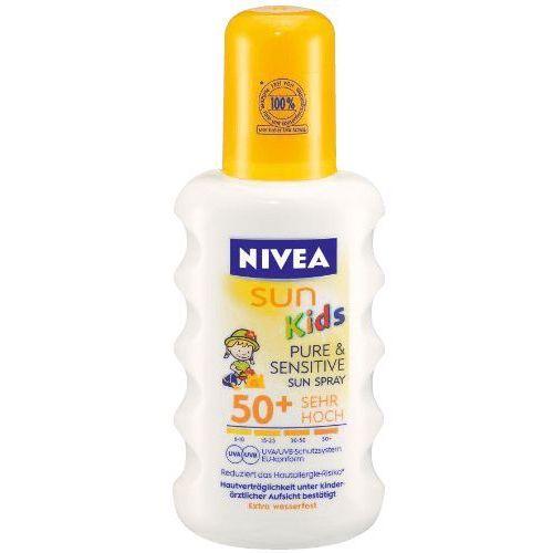 Pure&Sensitive Spray do opalania dla dzieci OF 50+, 200ml, produkt marki NIVEA Sun
