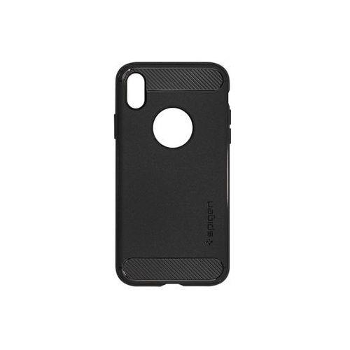 Apple iPhone XR - etui na telefon Spigen Rugged Armor - czarny, ETAP784SGRABLK000