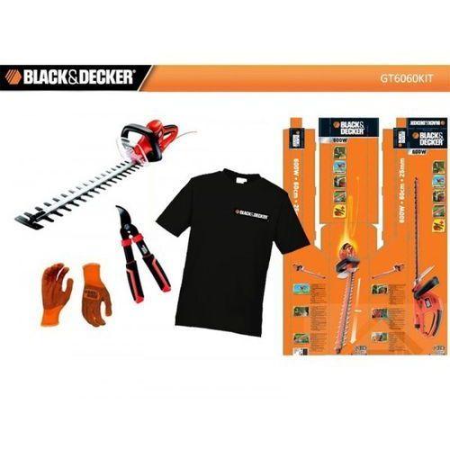 GT6060KIT Black Decker Nożyce do żywopłotu 60cm + Rekawice + Sekator - oferta (055ad345033fd458)