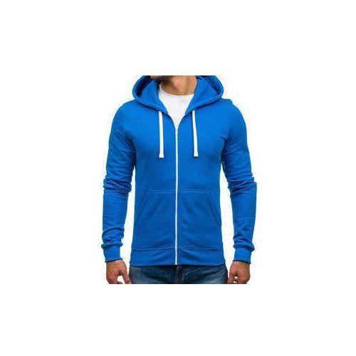 Bluza męska z kapturem niebieska Denley 03, z