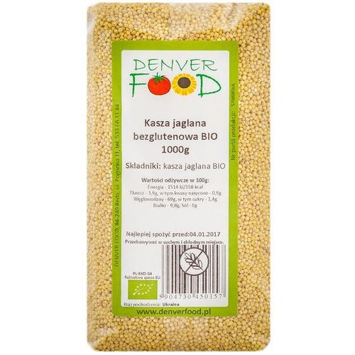 Kasza jaglana bezglutenowa bio 1 kg marki Denver food