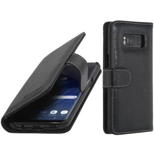 Stilgut Talis Czarne | Etui z klapką typu książka dla modelu Samsung Galaxy S8 - Czarny, kolor czarny