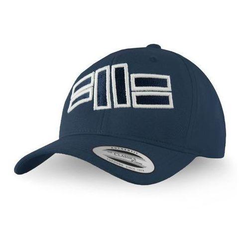 Pit Bull Snapback Classic FRONT LOGO Granatowy - Granatowy, kolor niebieski